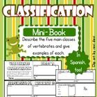Use this cute, little mini-book to describe and give examples of each of the five main classes of vertebrates. With this 8-page mini-book, students...