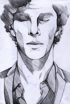 Der einsame – Sherlock von Mi-caw-ber.deviantart.com auf @deviantART (3. Juni 2014) // Ich liebe diesen Schattierungsstil