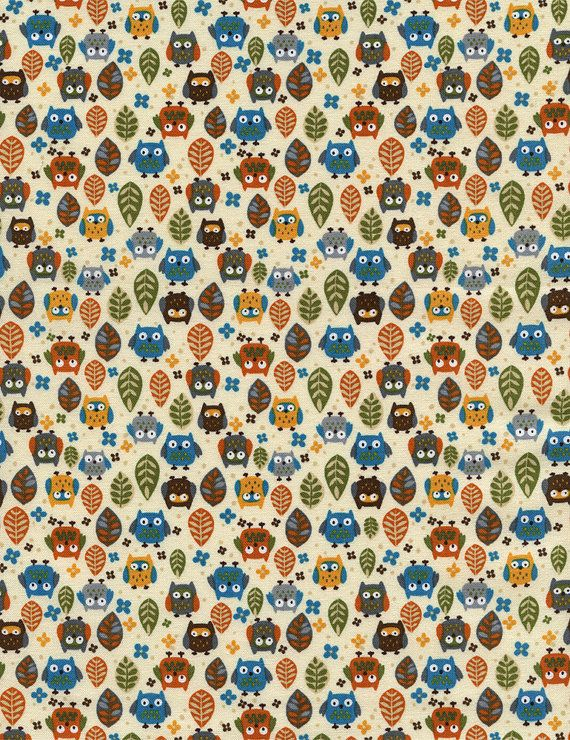 Mini Owls Cream Timeless Treasures Fabric by by spiceberrycottage, $8.95 #sewing #fabric #owls