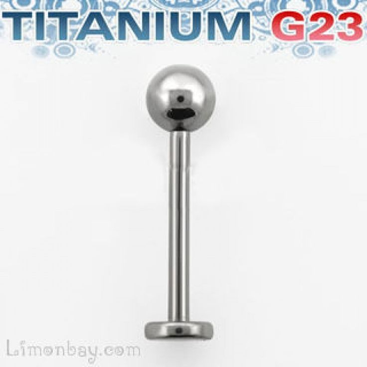 Piercing de labio- Labret de titanio G23 con bola de 4mm. Grosor: 1,2 mm. Largo: 8mm. Titanium G23 labret. Ideal para tu piercing de lab, 3.17