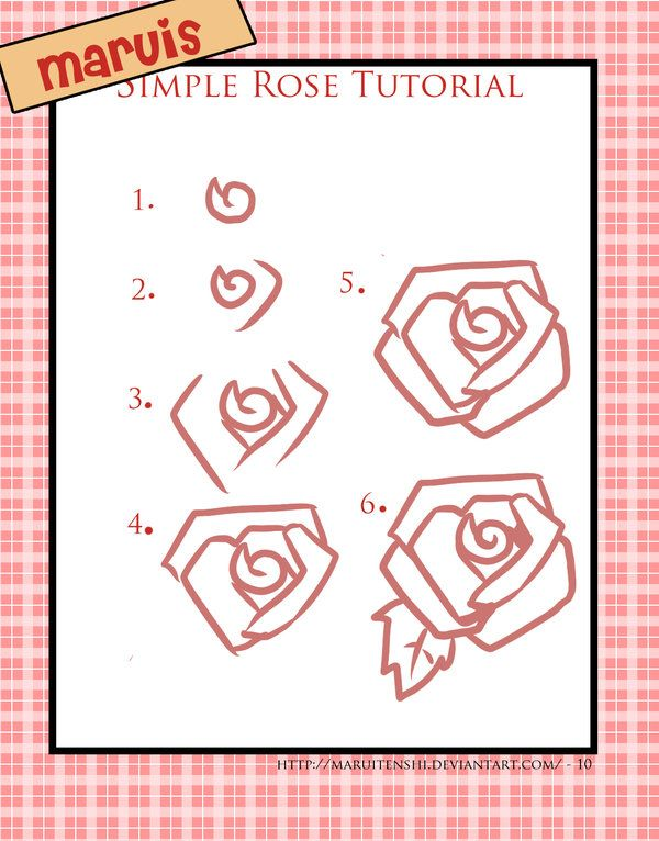Best 25 rose drawing simple ideas on pinterest rose for Easy rose drawing tutorial