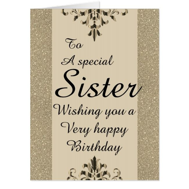 To A Special Sister Big Birthday Card Zazzle Com Big Birthday Cards Birthday Cards Special Birthday Cards