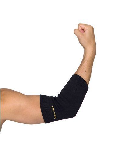 Back on Track Therapeutic Elbow Brace, Medium, Black by Back on Track. $24.00. Tennis elbow or tendonitis from too much time spent in front of a PC?  Get your tennis game back on track with our Elbow Brace. If you suffer from tennis elbow or tendonitis from too much time spent in front of a PC, this brace will give you relief. We constructed our Elbow Brace with our state-of-the art, ceramic-infused Welltex fabric, which works with your natural body warmth to provide a gentle hea...