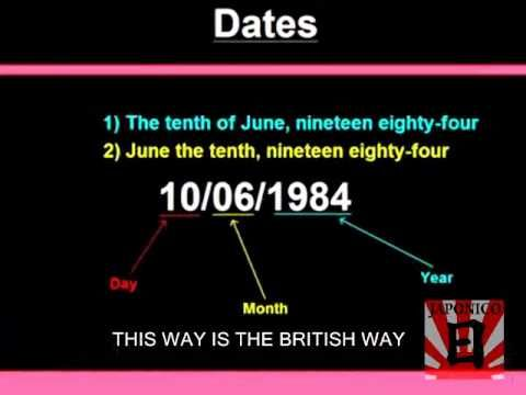Como decir las fechas en Inglés Learn HOW TO SAY THE DATES IN ENGLISH