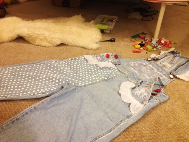 They are complete! Here is my documentation of my most recent project --          ~ Senior Overalls! ~     Materials:     overalls (vint...