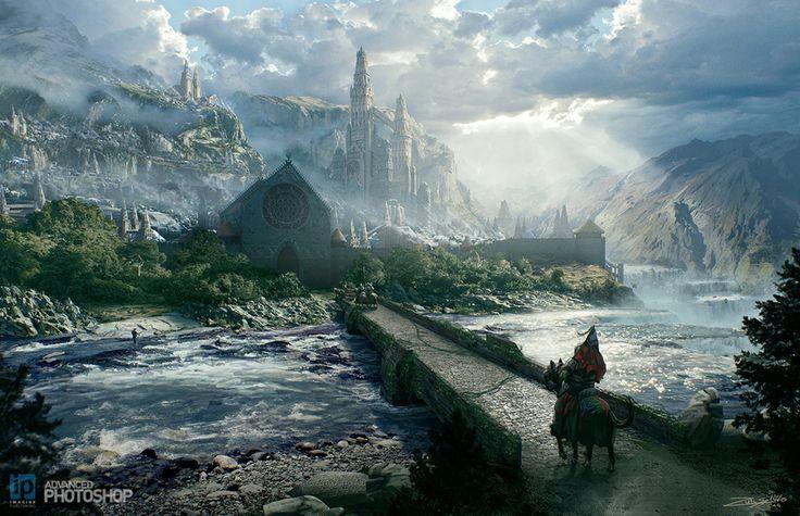 Epic Fantasy Landscape Concept by Tony Andreas Rudolph   Fantasy   2D   CGSociety