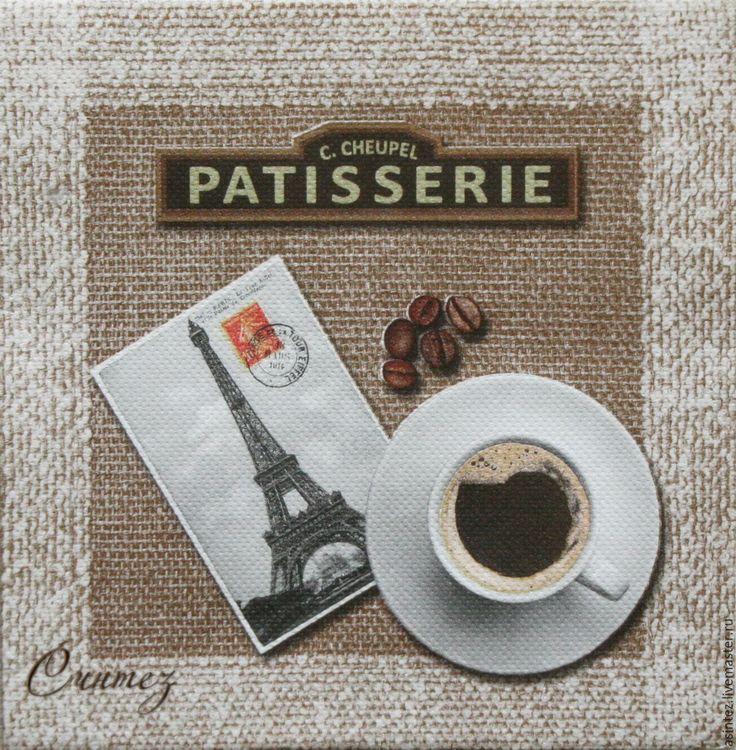 Купить салфетки для декупажа чашка кофе в Париже декупажный принт - салфетки для декупажа, декупажные салфетки