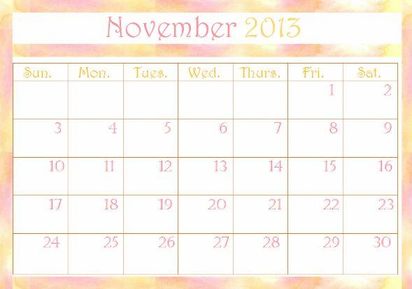 Free November 2013 Calendar Printable → http://www.embracinghome.com/november-calendar-2013-printable/