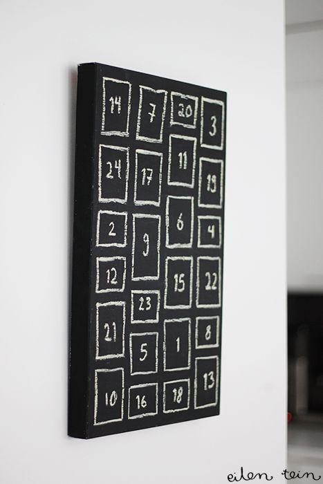 DIY: Chalkboard advent calender -quick & easy!