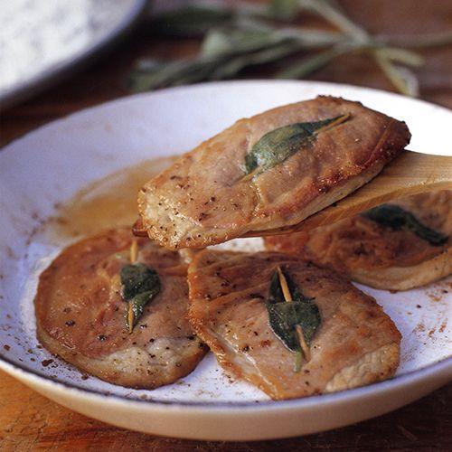 Kalfsoester met prosciutto en salie (saltimbocca) - recept - okoko recepten