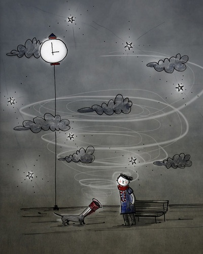 Around #midnight since the day I met you #Onomatopeico #FedericaTeti #Illustration