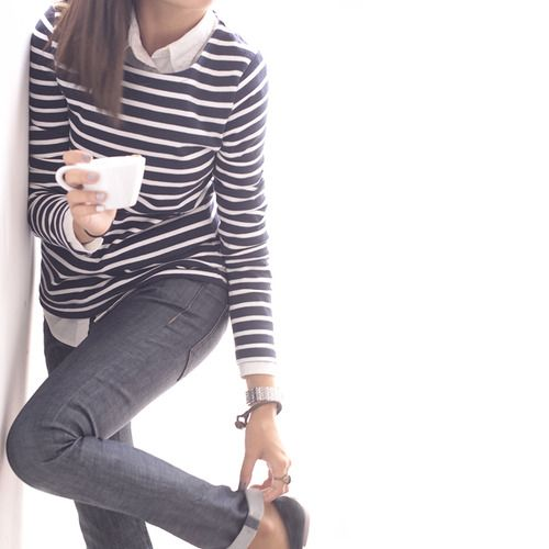 morning coffee + breton stripes