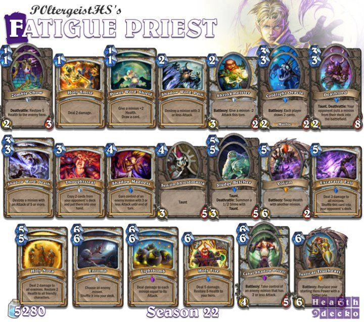 Priest Deck: 18 Best Best Hearthstone Decks Images On Pinterest