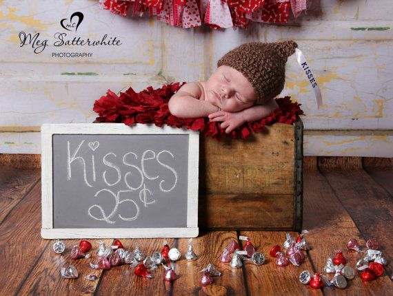 Crochet Baby Hershey Kiss Hat, Custom Made to Order Beanie, Handmade Newborn, 0-3, 3-6 Months Photo Photography Prop Baby Shower Gift on Etsy, $18.00