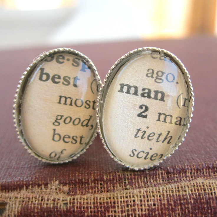 Vintage Dictionary Word cuff links - Personalized Custom cufflinks. $18.00, via Etsy. Would be perfect for best man gift