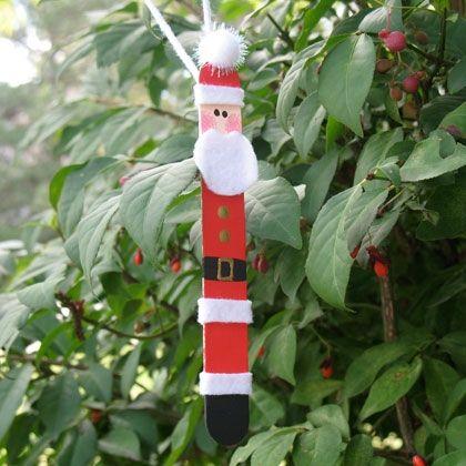 Craft Stick Santa Claus by @Amanda Formaro