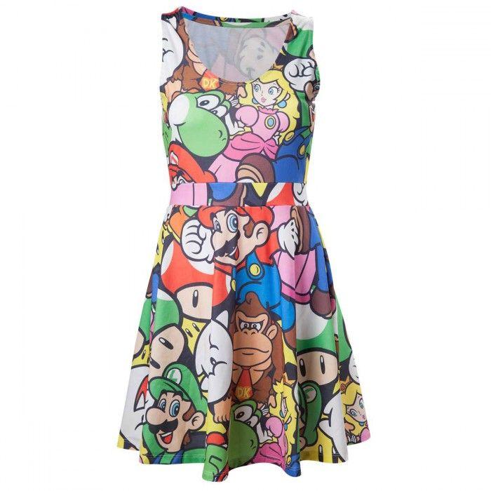 🌟 Nouveauté : Robe Mario Bros 39.90€🌟  ➡ http://ow.ly/wQfG304rWON ✔ en stock / expédié en 24h / Dispo en 1h sur Paris #supermario #geek #robe