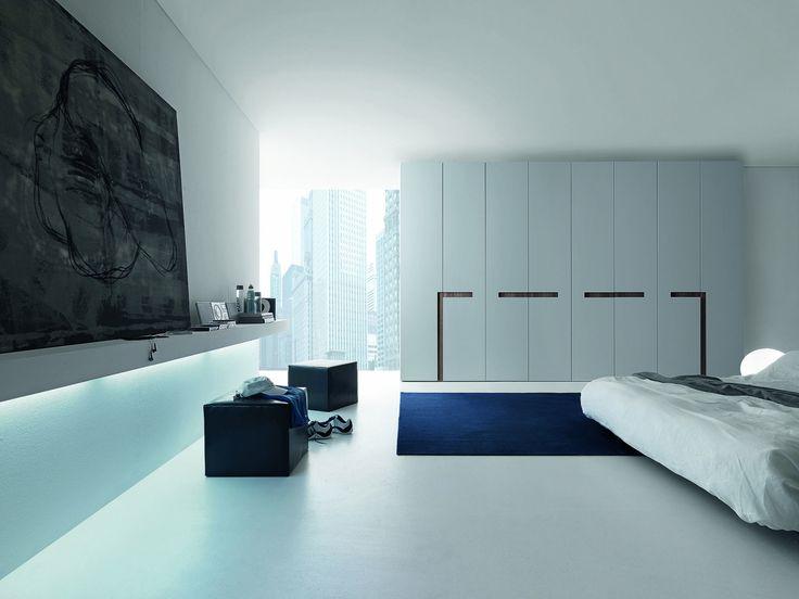 Alibi moderní minimalistická šatní skříň matná bílá / wardrobe