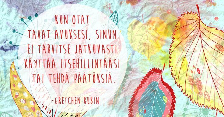 """Kirjailija Gretchen Rubin: """"Luo rennompi elämä tapojen avulla"""""""