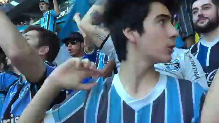 Torcida do Grêmio Cantando Sou Borracho na Geral do Grêmio