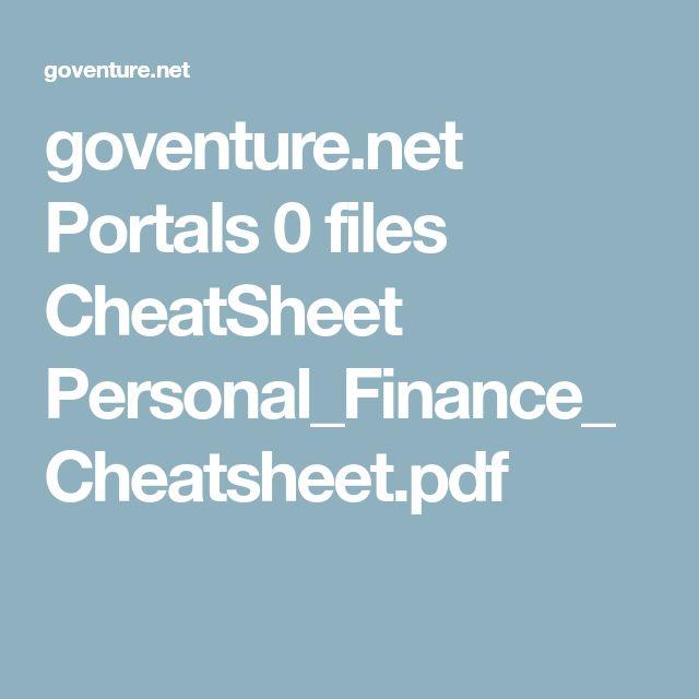 goventure.net Portals 0 files CheatSheet Personal_Finance_Cheatsheet.pdf