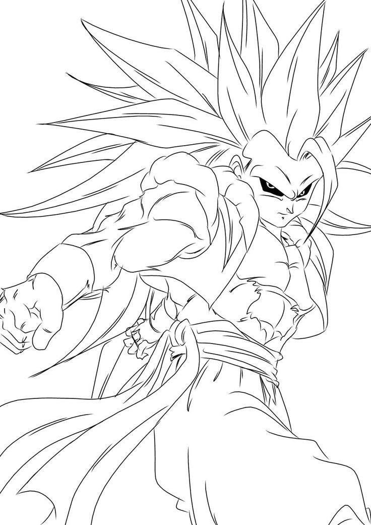 coloring pages dragonballz - photo#37