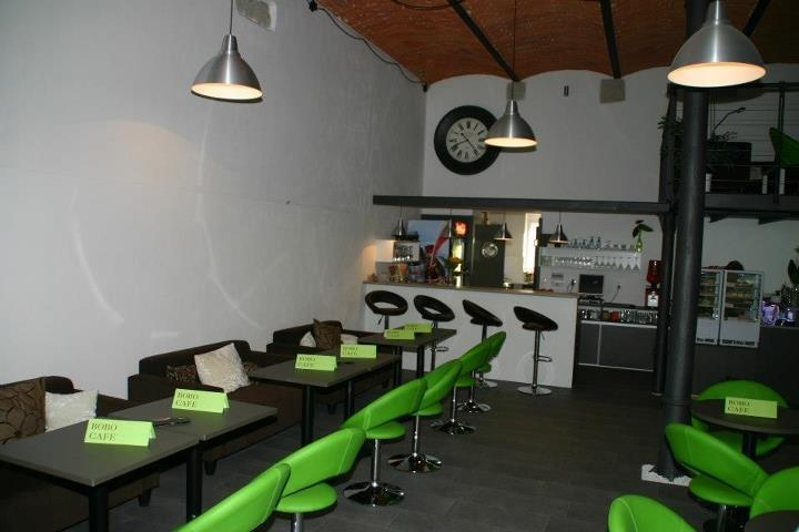 Bobo Cafe in Litomysl. Trendy bar - cafe - lunchroom along the river Loucna, Vodni Valy 162, Litomysl, Czech Republic.