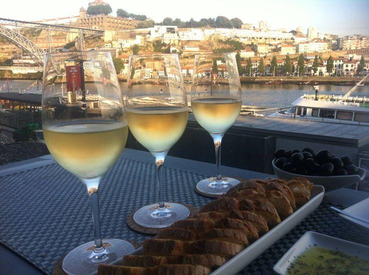 sunset at wine quaybar