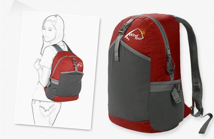 http://www.pokoopka.com/item/10735083424 Водонепроницаемый женский походный рюкзак, 20-35 л.