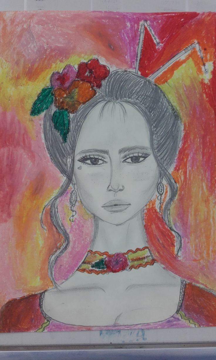 #Drawing #Girlface #SweetColors #Pastels #Flowers
