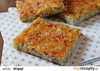 Slaný cuketový koláč s bazalkou recept - TopRecepty.cz