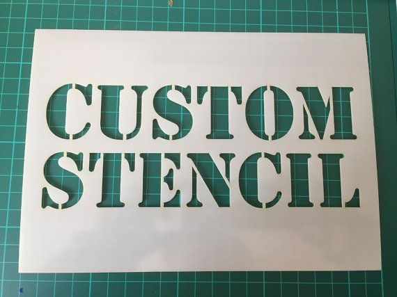 To get a fast quote for your stencil just send a conversation with details and the size you would like the stencil.  We can produce custom stencils from your designs or from your wording  Stencils can be up to 500 mm x 700mm (19.6 x 27.5 Inches) Custom 500 x 700 mm 19.5 x 27.5 A2 420 x 594 mm 16.5 x 23.4 in A3 297 x 420 mm 11.7 x 16.5 in A4 210 x 297 mm 8.3 x 11.7 in A5 148 x 210 mm 5.8 x 8.3 in A6 105 x 148 mm 4.1 x 5.8 in   Stencils are cut from 125 micron Mylar  We will send a proof of…