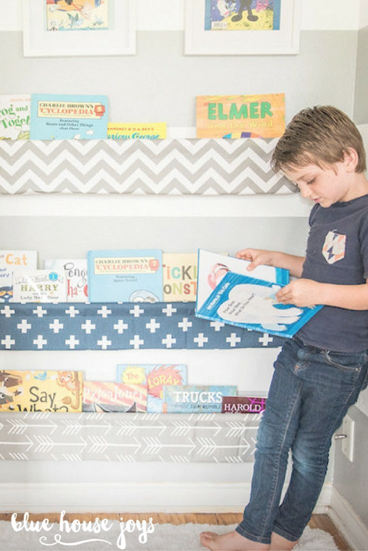 Ideas and inspiration for kids decorating with stuva petit amp small - Wall To Wall Book Slings For Nursery Or Kids Room Inspiration Make A Reading Nook