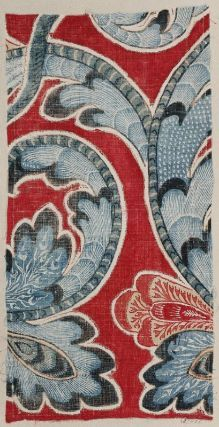 India cloth from the 18th century. Would like to see more of this to get an idea of  repeat pattern, if any.