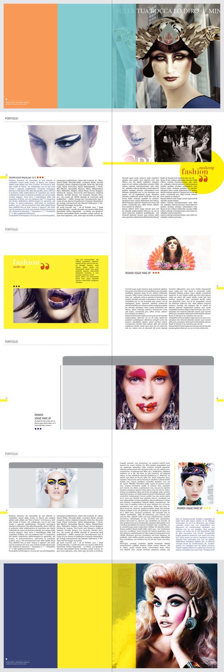 Progettazione Layout for fashion magazine