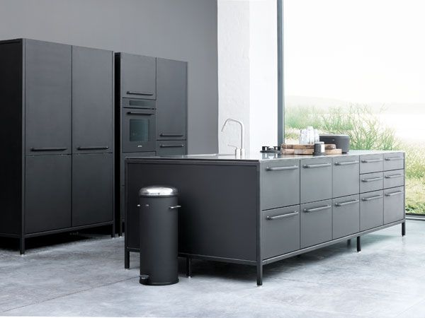 """With over 70 years of steel processing experience, stainless steel was an obvious choice of material in the development of the Vipp kitchen. """"Like with the Vipp bin, we bring the industrial look into the home with the new kitchen – a solid product, standing to be used day after day,"""" says Morten Bo Jensen."""