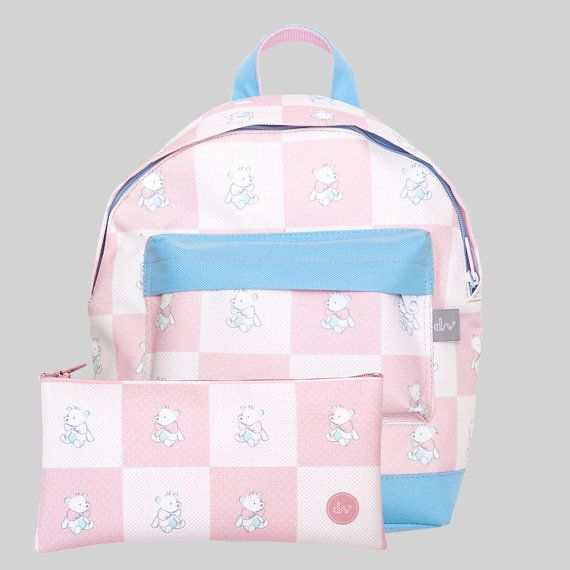 Designvonal Teddy Bear Backpack Set including backpack and pencil case - kids design