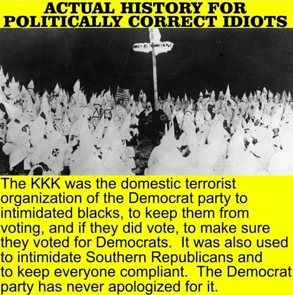 """They STILL BULLY people into voting Democrat! Black Republicans are called """"Uncle Tom"""" and told that they are a disgrace to their race. Whites are called racist and all kinds of character assassinations, Hollywood BLACKLISTS Republicans. ABSOLUTELY DESPICABLE!!!"""