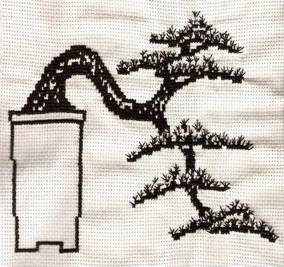 Bonsai #embroidery