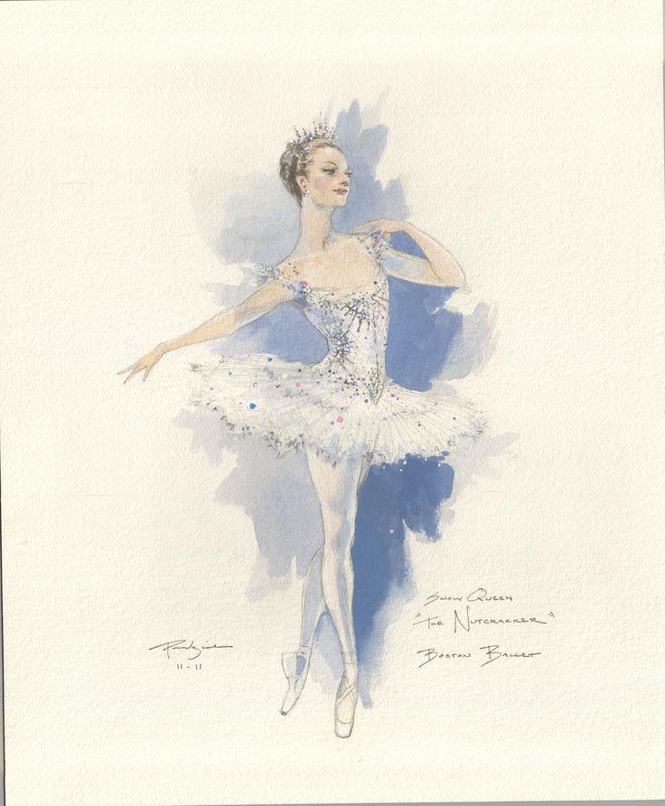 Snow Queen Costume Sketch by Robert Perdziola for Boston Ballet's The Nutcracker