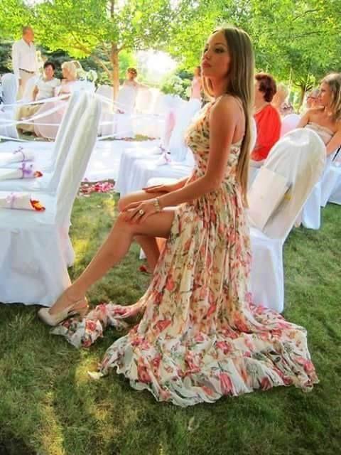 Vestidos de fiesta de dia en jardin