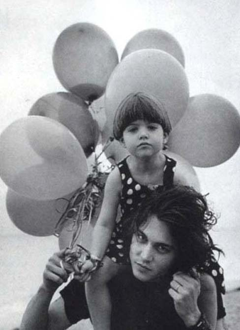 Johnny Depp with his daughter