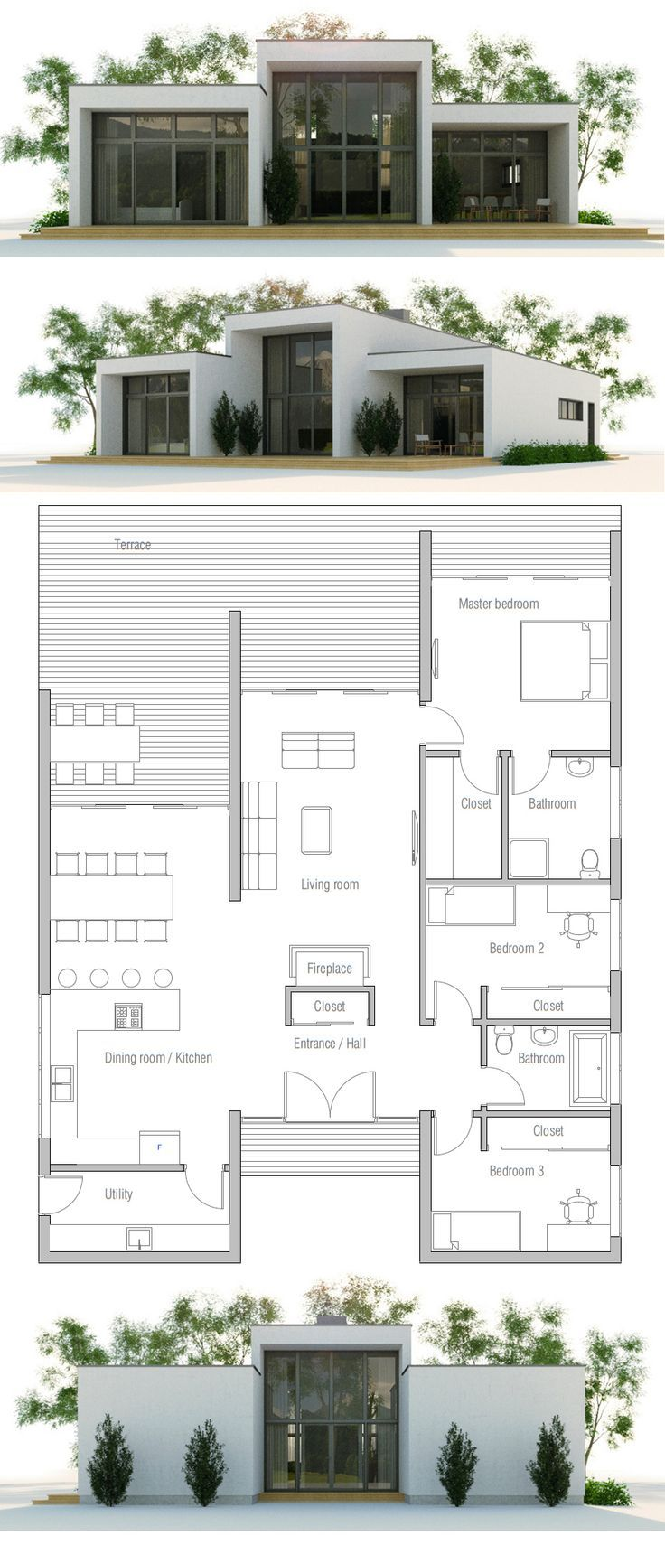 279 besten bildern zu floor plan auf pinterest for Stepped house plans