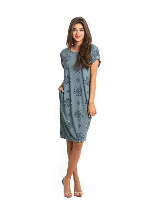 652e1bf0f3 Sexy Modest Brigitte Pocket Tee Dress at Amazon Women s Clothing store