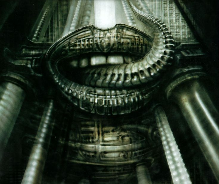 H.R. Giger's Biomechanical series.