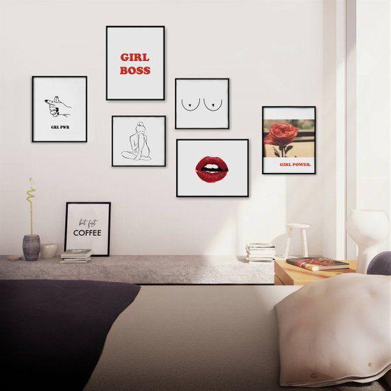 Feminist Art Feminist Print Girl Boss Print Set Gallery Etsy Tumblr Room Decor Tumblr Wall Art Kid Room Decor