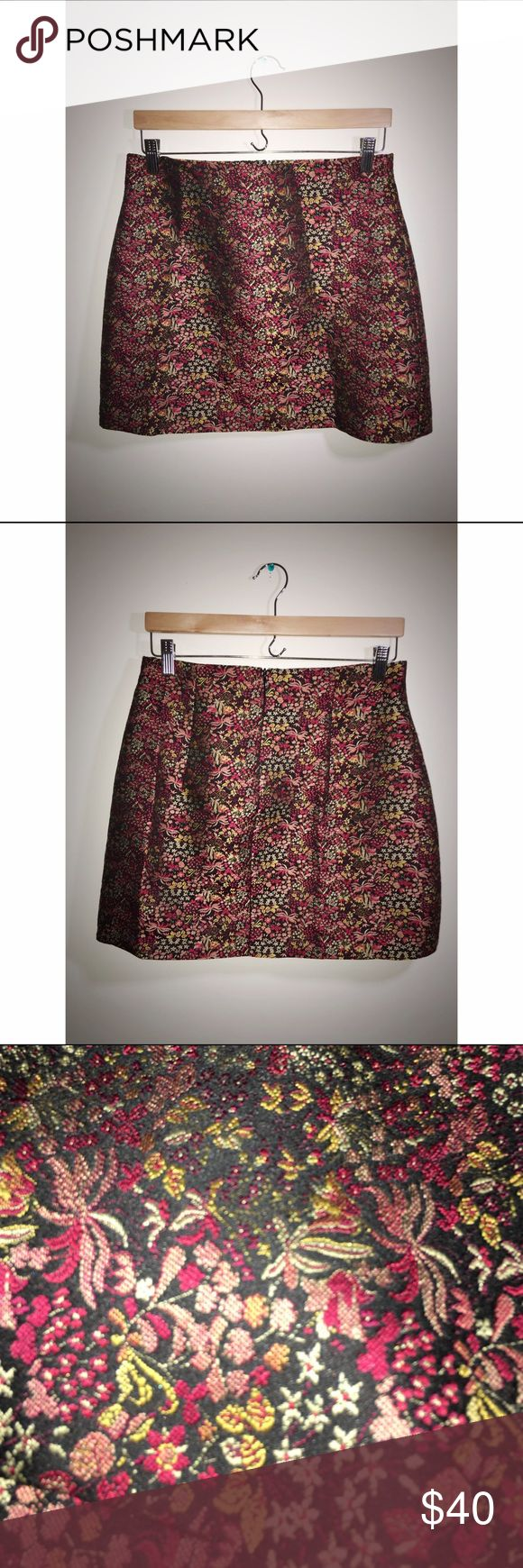 Beautifully detailed Zara skirt Beautiful. Really love. A-line. Giving up to save money for VK. Zara Skirts Mini