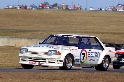 F1 World Champ Alan Jones and Bob Morris 1982 Oran Park Sydney