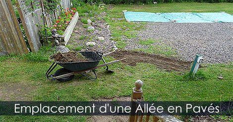 Étapes de réalisation d'une allée en pavés de béton - Comment faire une Pavé Uni - Pose de pavé-uni. Instructions: http://www.jardinage-quebec.com/guide/poser-des-paves/