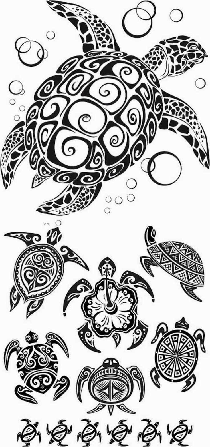 Turtle tattoo stencils
